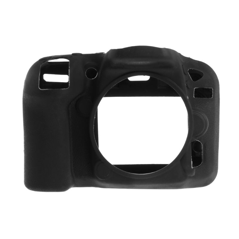 Black Soft Silicone Rubber <font><b>Camera</b></font> Protective Body Cover Case For <font><b>Nikon</b></font> D7200 <font><b>D7100</b></font> image