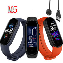 M5 Smart Bluetooth Sport Mannen Horloge Fitness Tracker Hartslag Monitoring Leven Waterdichte Digitale Klok Multifunctionele Polsbandje(China)