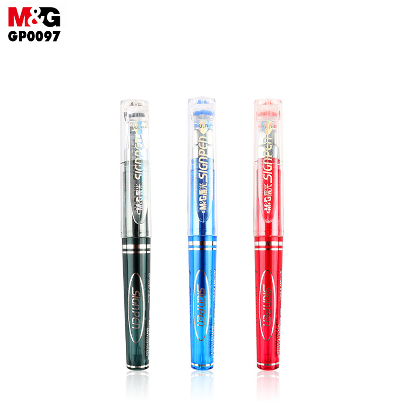 M&G Signpen neutral pen. (12pcs/box)0.5mm portable Short-pole signature pen GP0097