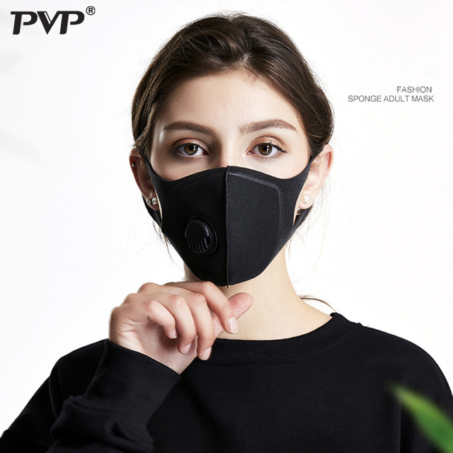 PVP 1Pcs Face Mask Dust Mask Anti Pollution Masks PM2.5 Activated Carbon Filter Insert Can Be Washed Reusable Mouth Masks warm 5