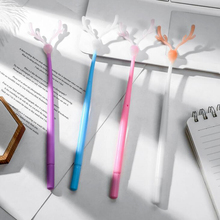 Creative color-changing Elk antler black gel pen Novel student blue writing neutral pen Child gift Office School Supplies Pen цена