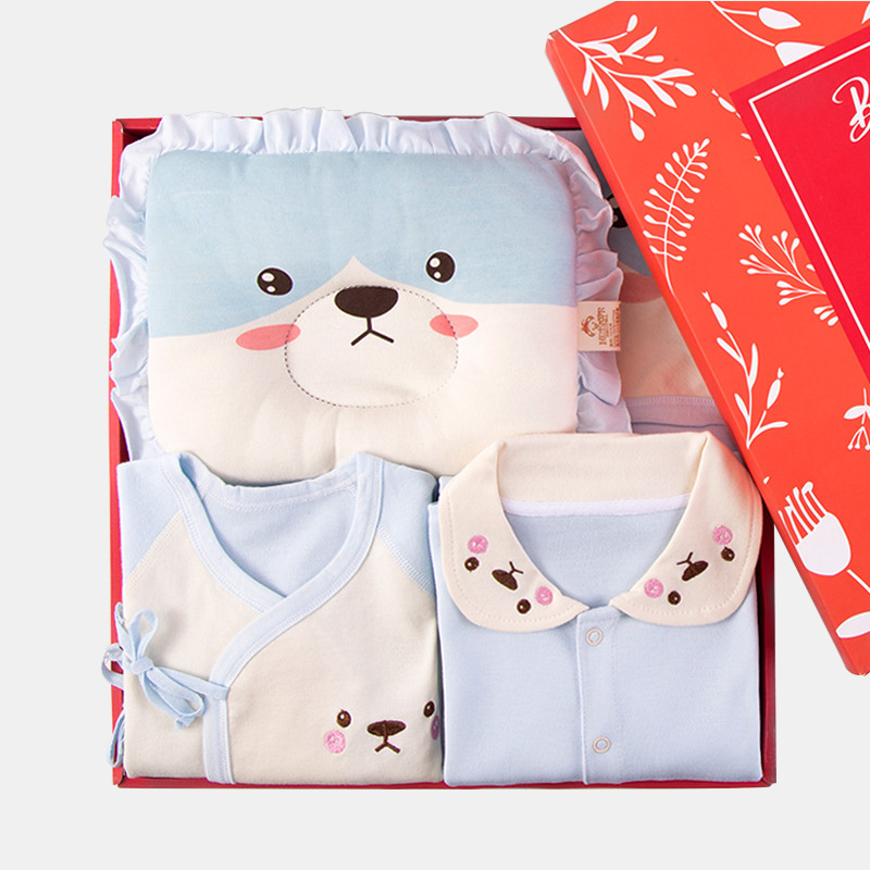 Newborns Gift Box Clothes For Babies 0-3 Month 6 Pure Cotton Set Spring And Autumn Summer Newborn Baby Supplies BABY'S FIRST Mon