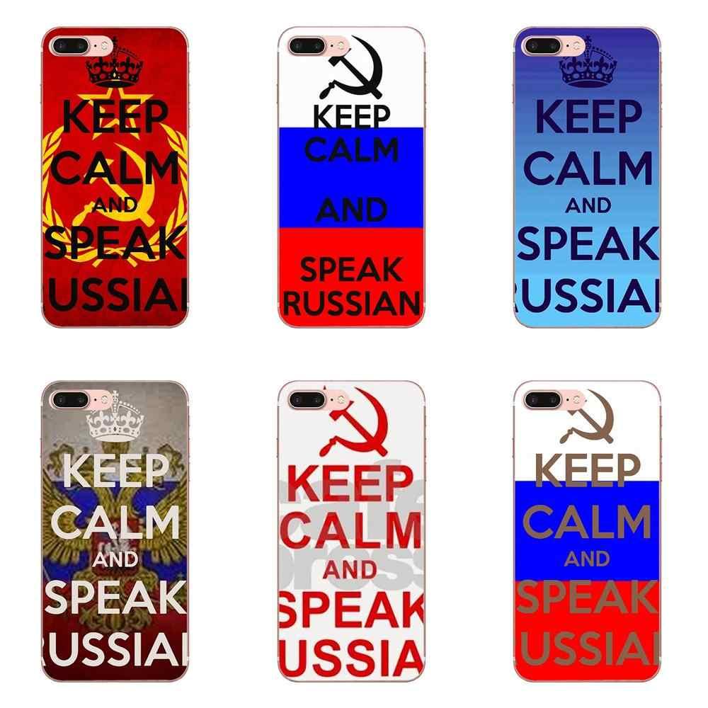Houd Kalm En Spreken Russische Zachte Populaire Hot Voor Samsung Galaxy Note 5 8 9 S3 S4 S5 S6 S7 s8 S9 S10 5G mini Rand Plus Lite