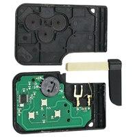 3 botões remoto chave smart card fob para renault megane scenic carro chaves 433 mhz pcf7947 chip acessórios