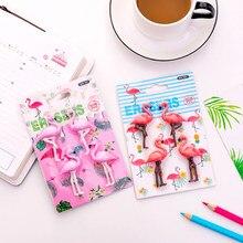 Gommes à poudre légère Flamingo, 4 pièces/paquet, poudre profonde, deux choix de gommes de forme, caoutchouc, papeterie cadeau pour étudiant