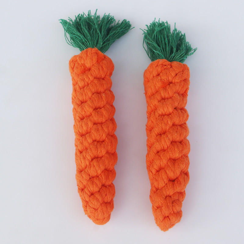 Pet toys hand woven carrots cute dog toys cotton rope pet toys small dog toys  dog chew toys  dog toys for small dogs
