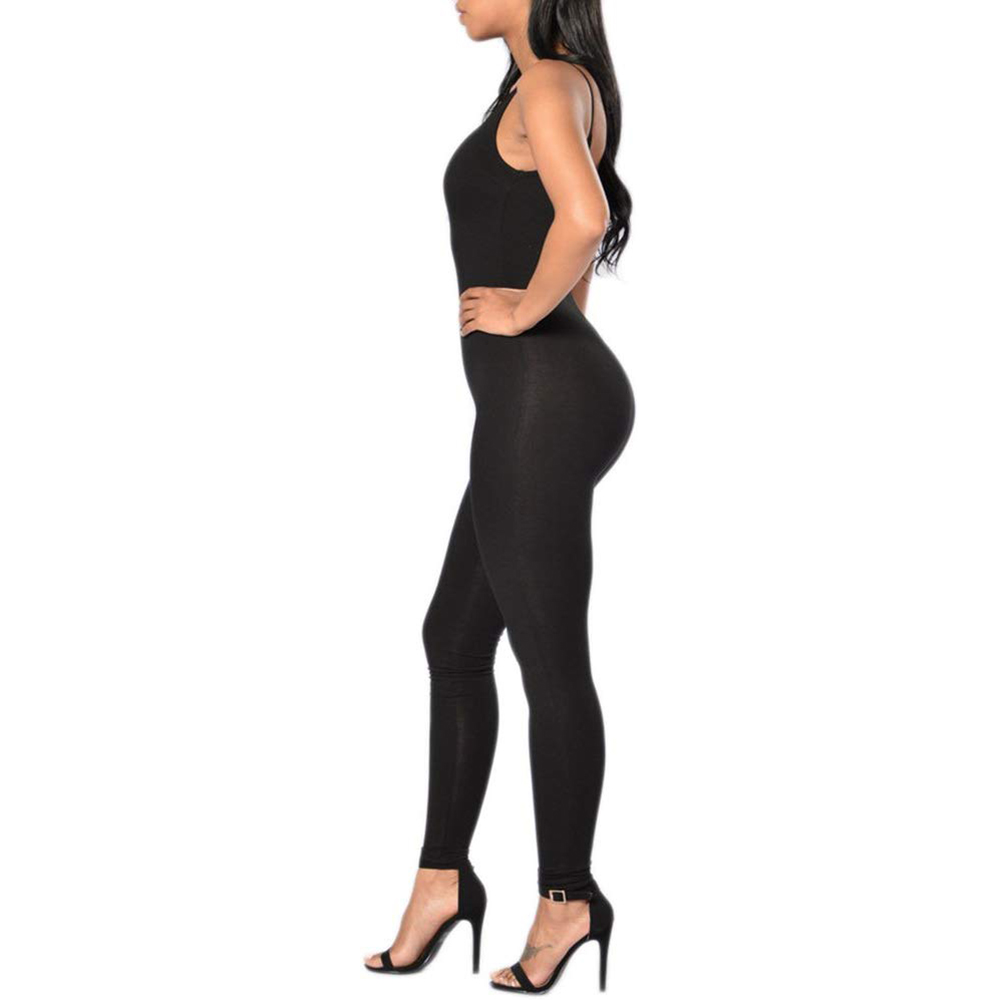 2019 Women Bodysuit Romper Jumpsuits One Piece Body Full Suit Strap Tank With Long Pants Leggings Bodycon Sexy Tight Playsuit
