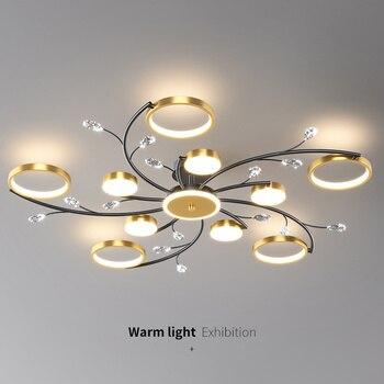 Modern LED Chandelier Gold Indoor Lighting For Bedroom Living Hall Dining Study Room Lustre Home Fashion Ceiling Chandelier 2021