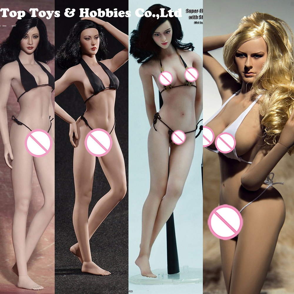 <font><b>1/6</b></font> Sexy Female Super Flexible Seamless <font><b>Body</b></font> S16A/S17B Medium Breast Suntan/Pale <font><b>action</b></font> <font><b>figure</b></font> Doll Toys Without Head image