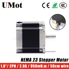 цена на NEMA 23 Stepper Motor 1.8 Degree 57mm 4-lead 2PH 2A 950m.Nm Nema23 Stepper Motor Customizable length for CNC parts