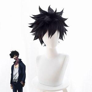 Парик из синтетических черных волос Dabi My Hero academic, термостойкий парик для косплея из Аниме Boku No Hero academic