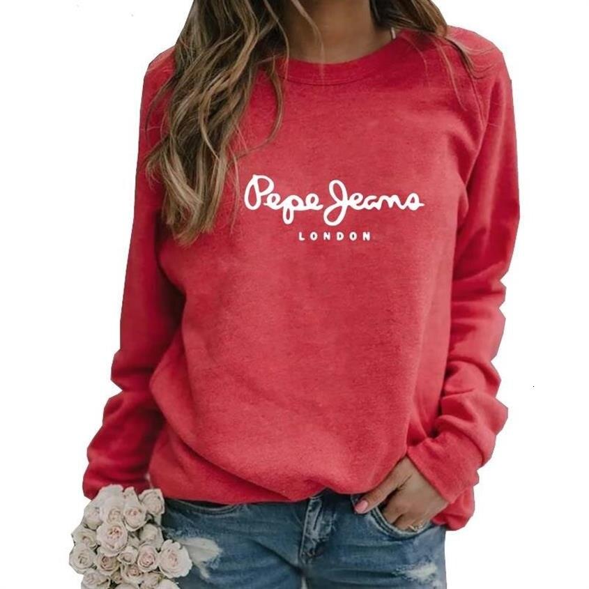 Pege Geama Letters Print Long Sleeve Round Neck Hoodies For Women Tops Kawaii Sweatshirt Woman Cute Harajuku Hoody Plus Size 5XL