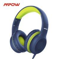 Mpow CH6 Verdrahtete Kind Kinder Kopfhörer Food Grade Material 85dB Begrenzte Volumen mit 3,5mm AUX Port für MP3 MP4 PC Telefon Laptops