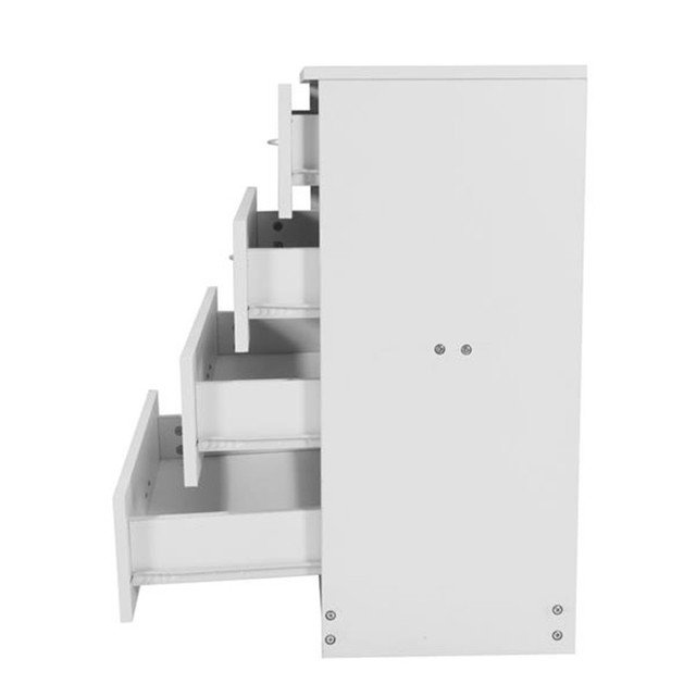 4-Drawer Wood White Dresser  4