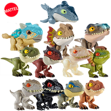 Mundo jurássico minidedos, dinossauro, figura de ação, móvel, simulação, modelo de brinquedo para crianças, presente, dia das bruxas