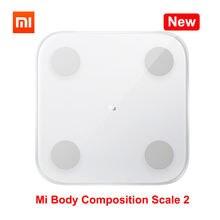 Xiaomi Mi – Balance de Composition corporelle 2, Test de 13 mesures de composition corporelle, Bluetooth 5.0, imc, poids de santé, écran LED