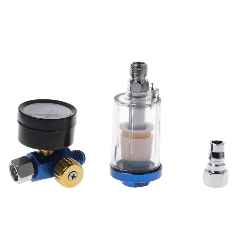Image 3 - Spray Paint Gun Air Regulator Gauge & In line Air Oil Water Separator Filter Kit G03 Whosale&DropShip-in Spray Guns from Tools on