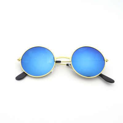 1 זוג אופנה גברים נשים בציר רטרו עגול משקפי שמש מתכת מסגרת משקפי שמש משקפיים נהג משקפי חיצוני ספורט משקפיים