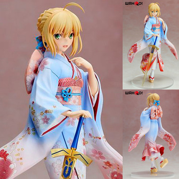 25cm Fate Stay Night Sword Saber Artoria Pendragon Kimono Static Action Figure High Quality Pvc Girl Sexy Figures Colection Toys