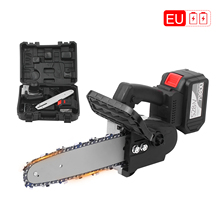 Chain Saw Cordless Battery Powerful Fast-Charger 21V with Carry-Box 12-Inch 6-Ah Auto-Tension