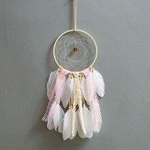 купить Nordic Style Dream Catcher Feather Girl Style handicraft Dreamcatcher Innovative Home Bedside Wall Hanging Home Room Decoration дешево