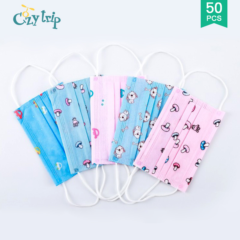 10/30/50PCS Children Face Mask Anti Droplet Saliva Mask Protective Breathable Seasons Kids Face Mask For Child