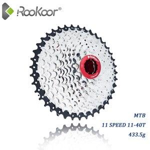 Rookoor Mountain Bike MTB 11 Speed Velocidade Cassette 11S 11-40T Bicycle Parts Cassete Freewheel Sprocket Ultralight 433.5g