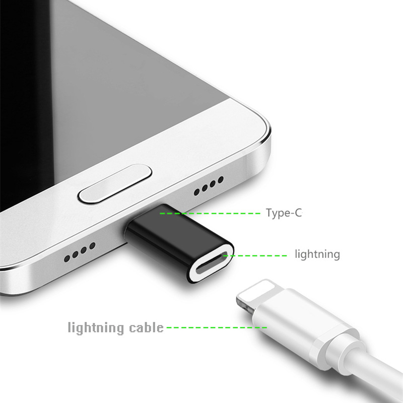 USB-C OTG Type C To 8 Pin Adapter Mini Alloy Converter Charging Type-C Lightning Connector For IPhone Huawei P30 Xiaomi Phone
