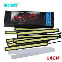 GEETANS 10X Car styling 14cm Waterproof Ultra thin COB Chip LED Daytime Running Light DRL LED Light Lamp Source Car Styling CJ