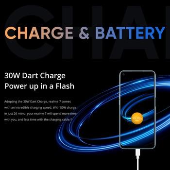 realme 7 NFC 6.5'' FHD+ 6/8GB 64/128GB 48MP Quad Cams Smartphone Helio G95 Octa Core 30W Dart Charge 5000mAh Mobile Phone 5