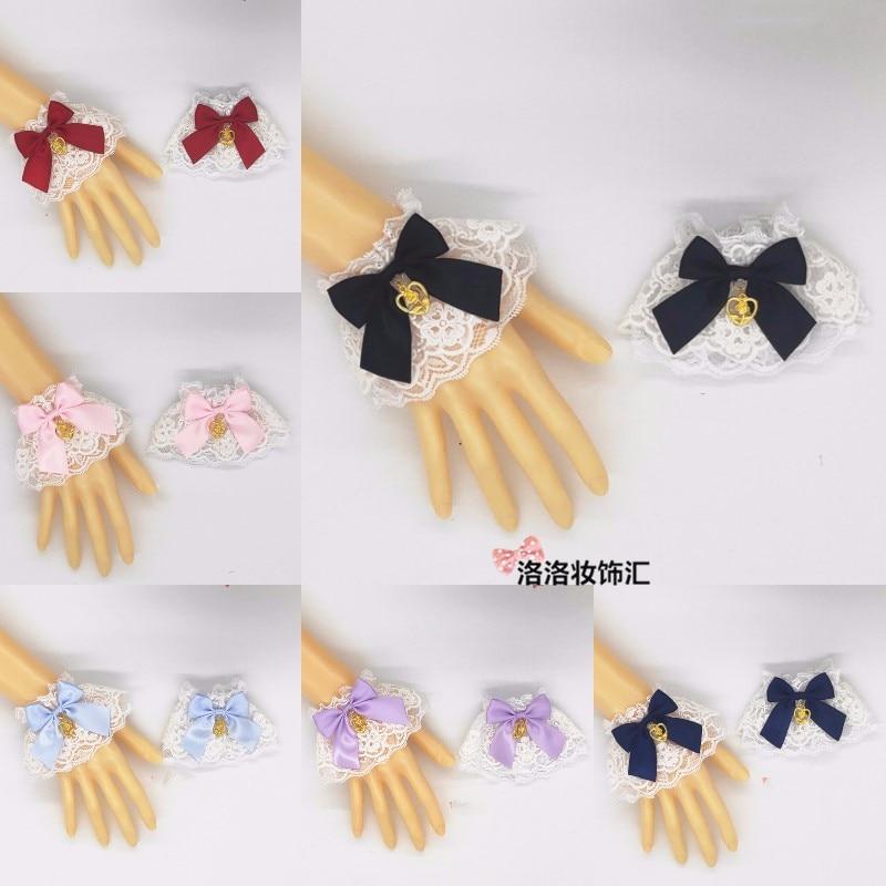 Origional Lolita Lace Versatile Hand Cuff Lolita SOFT Girl Hand Jewelry Can Take A Stars Mo FA Angel Handle Alice