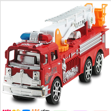 A new type of children's toy car large inertia simulation fire fighting truck ladder
