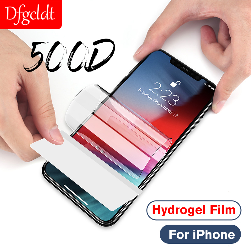 500D Full Cover Hydrogel Film for iPhone 11 Pro Max X Xs Max XR 7 8 6 6s Plus Full Cover Screen Protector Soft Protective Film