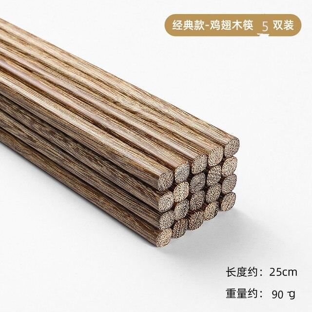 10 пар/лот деревянные палочки для еды без лака воск бытовая фотография