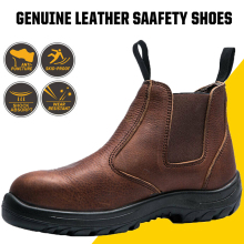 Work Shoes Waterproof Genuine Leather Safety Shoes Men Punct