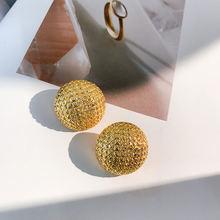 Женские круглые серьги гвоздики ustar золотистые Винтажные «простота»