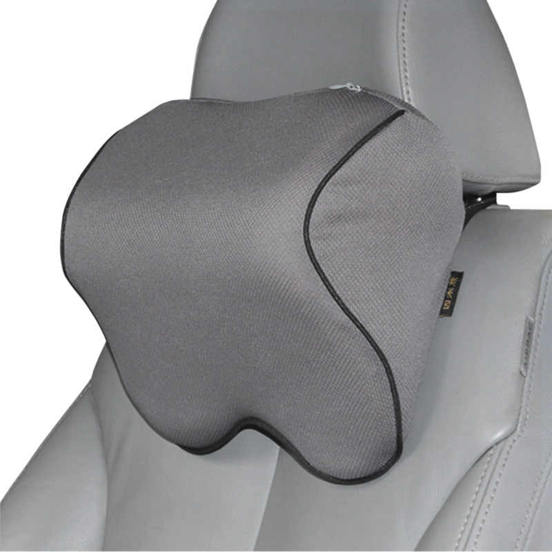 S1 Headrest Car Neck Pillow Seat lumbar Pillow in auto back Head rest  Memory Foam Fabric For chair Travel Support Cushion covers|Neck Pillow| -  AliExpress