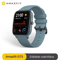 Глобальная версия Amazfit GTS Смарт-часы 5ATM водонепроницаемые Смарт-часы 14 дней батарея GPS управление музыкой кожаный силиконовый ремешок