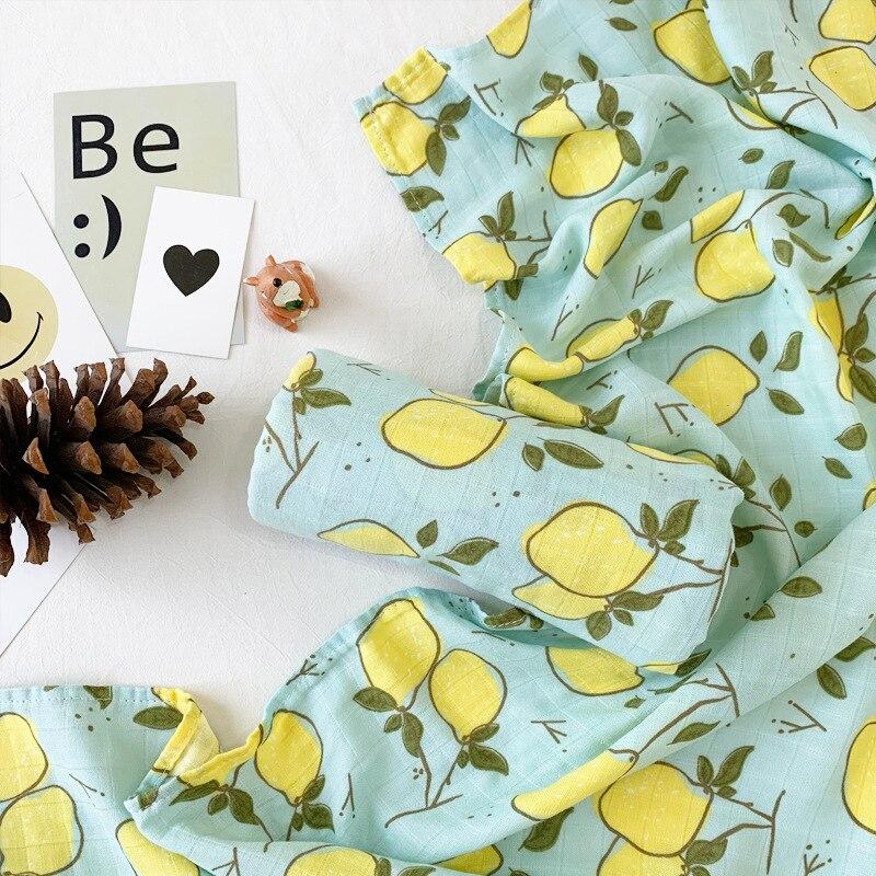 Muslin Baby Blanket Muslin Swaddle Wraps Cotton Bamboo Baby Blankets Newborn Bamboo Muslin Blankets 120cm
