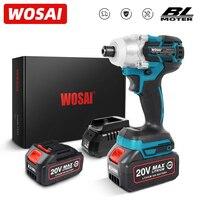 WOSAI-destornillador eléctrico inalámbrico serie MT, Motor sin escobillas de 155NM, llave de impacto eléctrica, taladro recargable, 20V