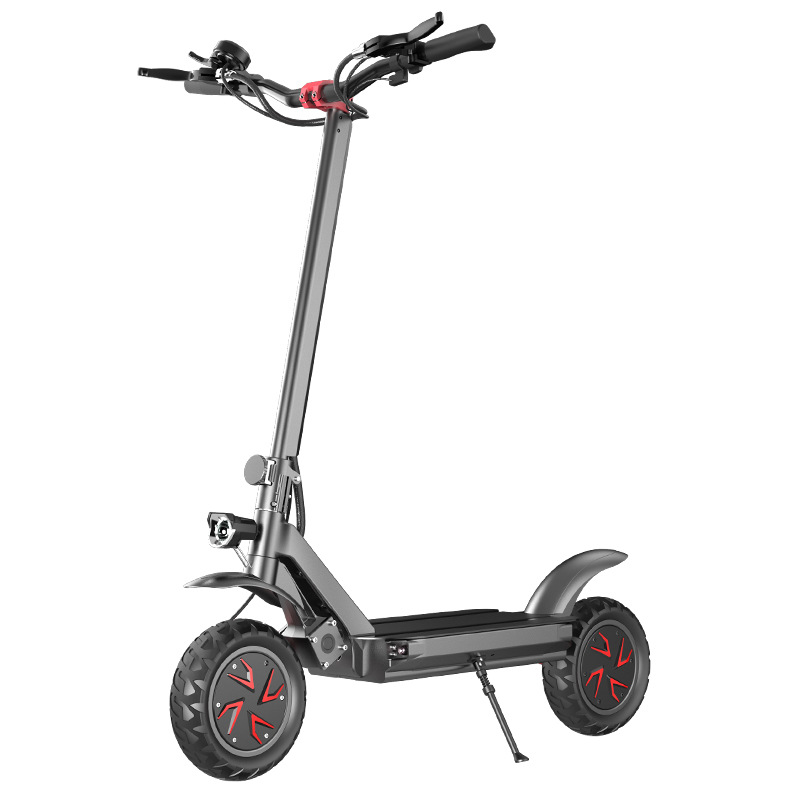 Double Drive Electric Scooter Folding Adult High-power Electric Scooter Warm And Windproof