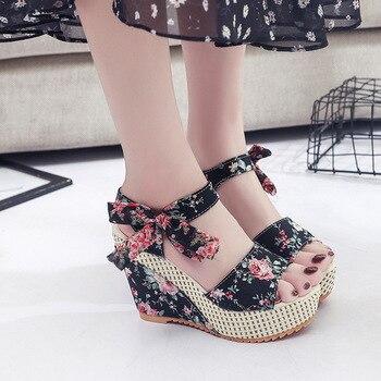 2020 الربيع و الصيف جديد الصنادل المرأة أحذية نسائية ملونة المرأة 3