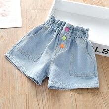 New Summer Solid Color Children Kids Baby Toddler Girls Clothes Denim Shorts Pants for Girls