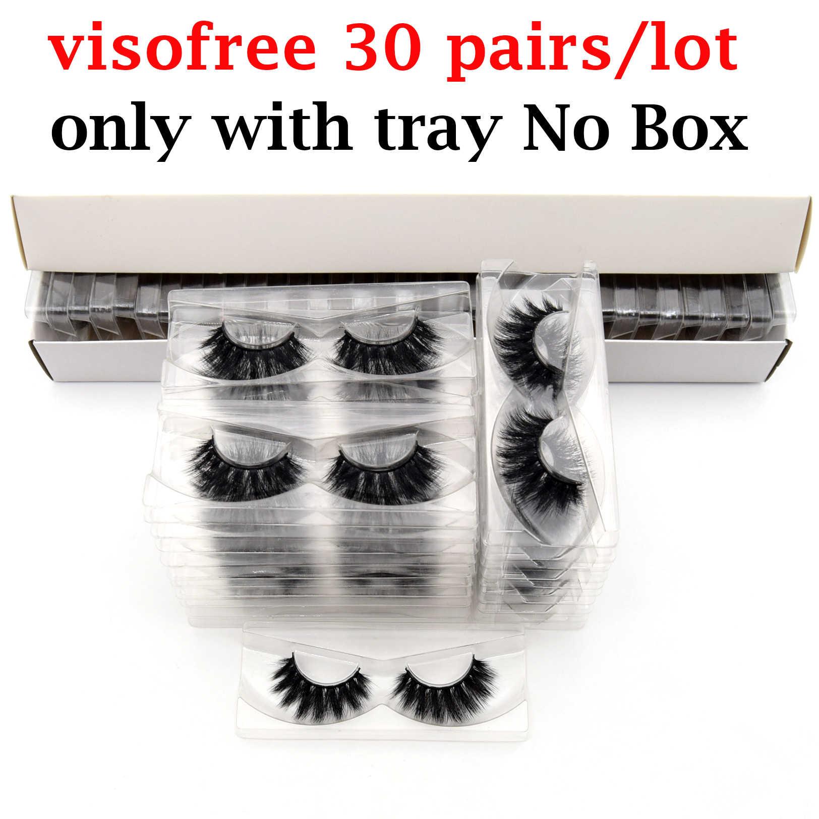 30 пар Visofree 3D норковые ресницы без коробки натуральные накладные ресницы драматические накладные норковые ресницы макияж ресницы для наращивания шелковые ресницы