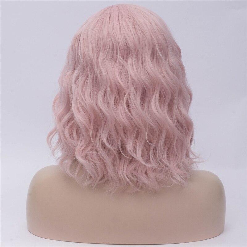 Gaka feminino curto natural onda cosplay peruca