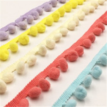 1.2cm hair ball lace small pom-pom lace accessories clothing DIY trim pillow pillow cover curtain bedding lace