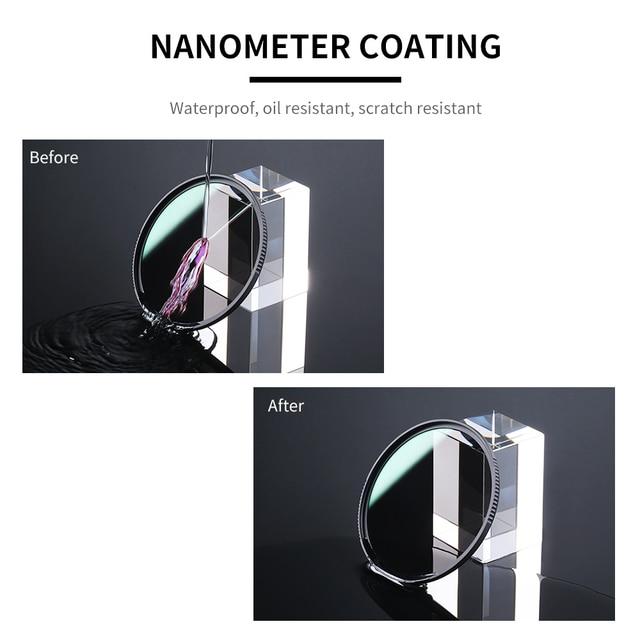 K&F Concept HD ND8 Filter Camera Lens Multi-Resistant Nano X Coating Filter Density 49mm 52mm 58mm 62mm 67mm 72mm 77mm 82mm 5