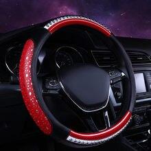 Cobertura de volante do carro 37-38cm universal de alta qualidade capa de volante de couro adequado para 99% todos os modelos acessórios do carro