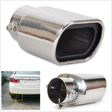 Universal Car Auto Rear Exhaust Tail Pipe Trim Muffler Tip Stainless Steel Parts Motorcycle