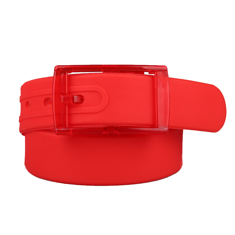 Silicone Belt Adjustable Size Unisex Men Women Scented Plastic Buckle Candy Colors Rubber Belt Korean Style For Women Men